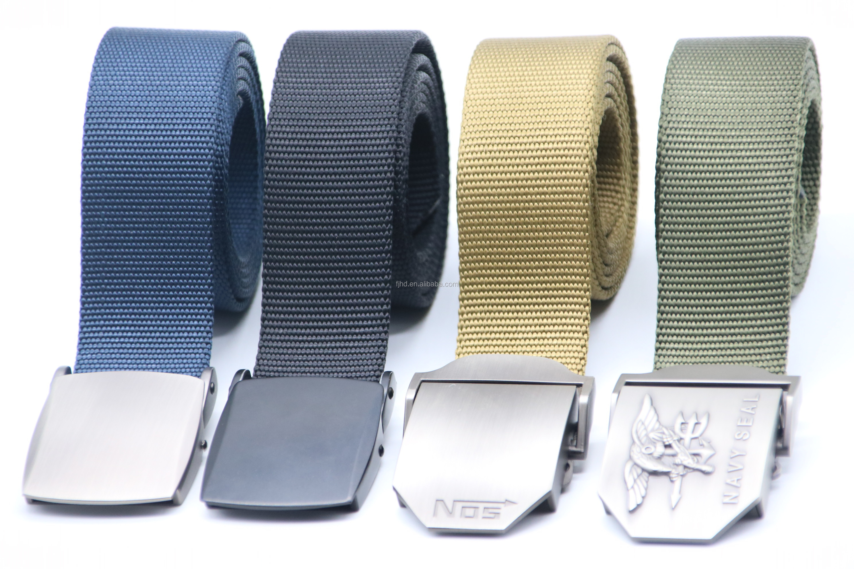 Fashion 100% Nylon Tactical Web Belt with Alloy Metal Buckle