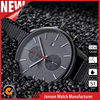 New style mens cheap wide band watch stainless steel watch