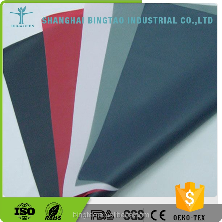 2016 High Quality Jersey Knitting Fabric Laminated Transparent Tpu Film