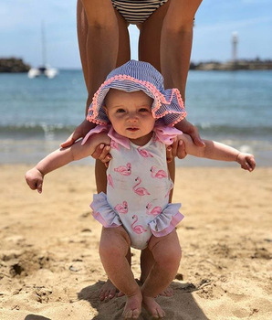 c6894be42a Newborn Kids Baby Girls Flamingo Swimwear Swimsuit Bikini Bathing Suit  Beachwear