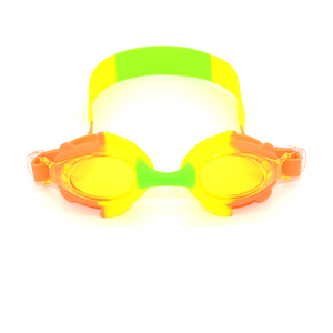 wholesale cute frame adjustable rubber headband silicone free swimming goggles children silicone anti-fog kids swimming goggle J