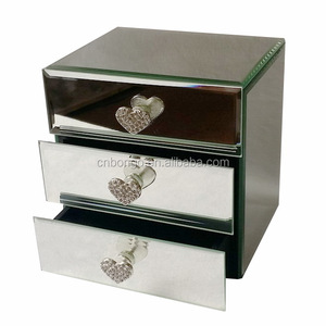 mirror jewelry box with jewelled handle