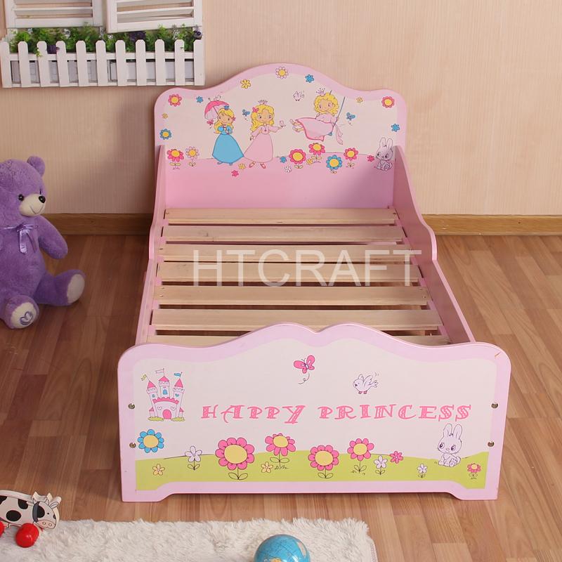 I bambini letto principessa design in legno letto per bambini con ...