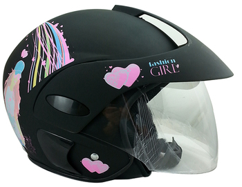 Fashionable Decals Open Face Helmet Motorcycle For Women Buy - Helmet decals motorcycle womens