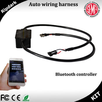 wiring harness protection bluetooth control car light wire harness assembly switch  car light wire harness assembly switch