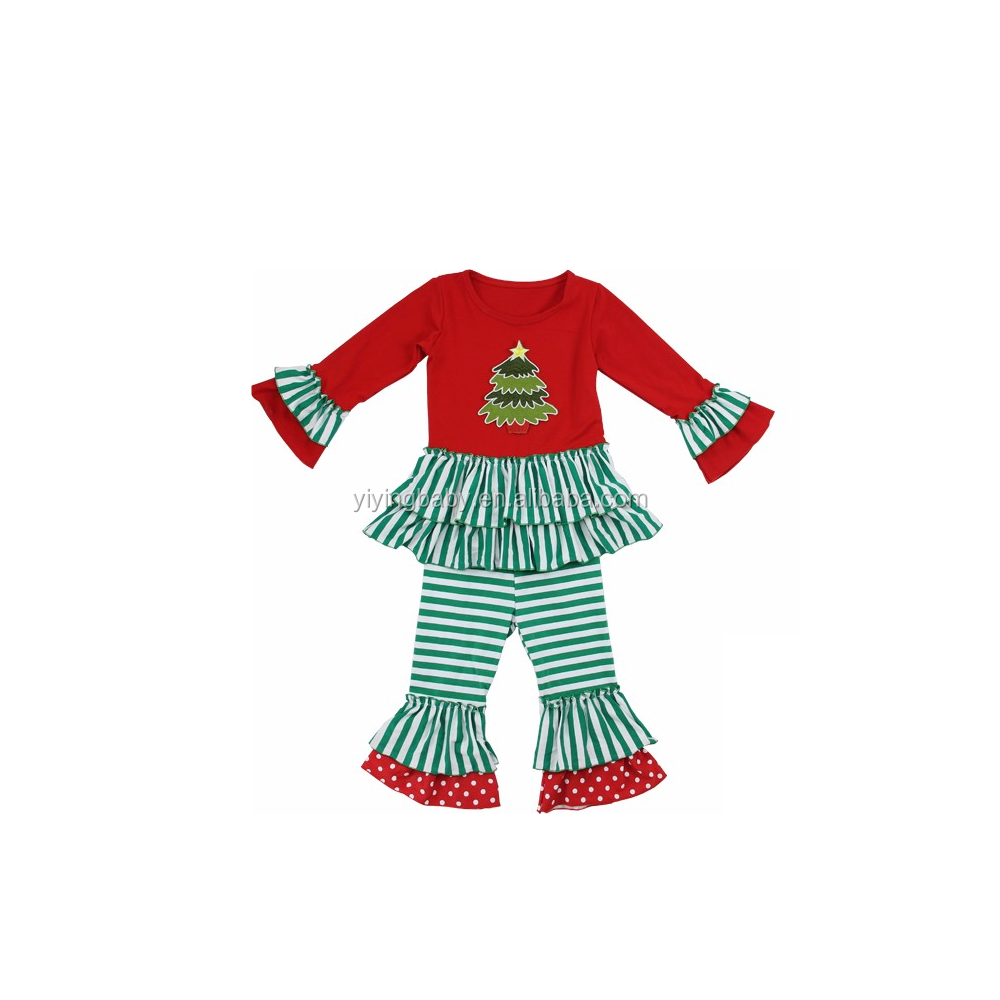 Neonate outfits natale all'ingrosso outfits natale boutique ragazza