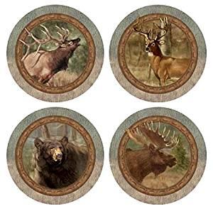 Thirstystone Stoneware Coaster Set, Wildlife Quartet