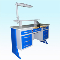 150cm denatl laboratory workstation with lighting and dust extraction system