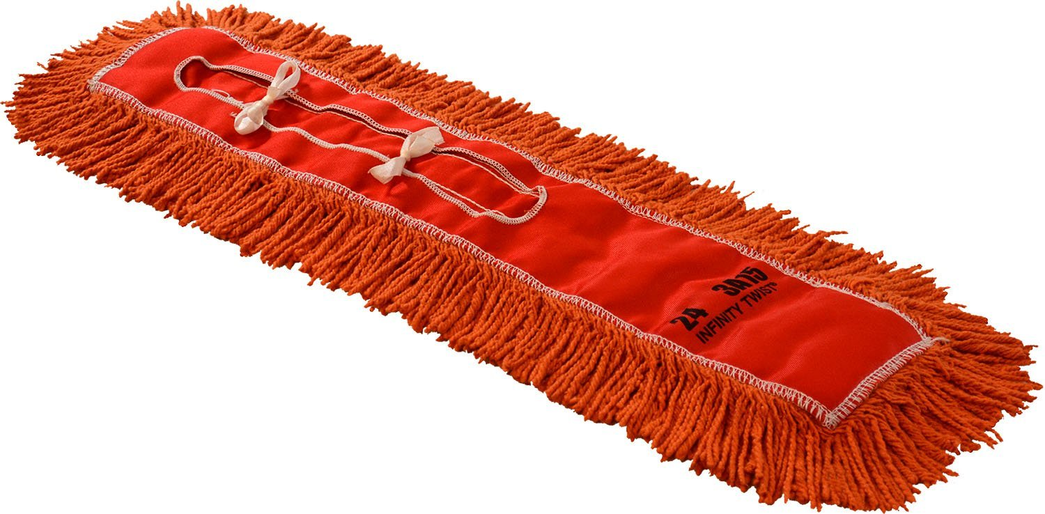 Golden Star ARR36CITB Regular Set-O-Swiv Infinity Twist Dust Mop Head Pack of 12