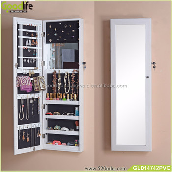 Wall Mount And Over The Door Jewelry Cabinet Mirrored Furniture Whole