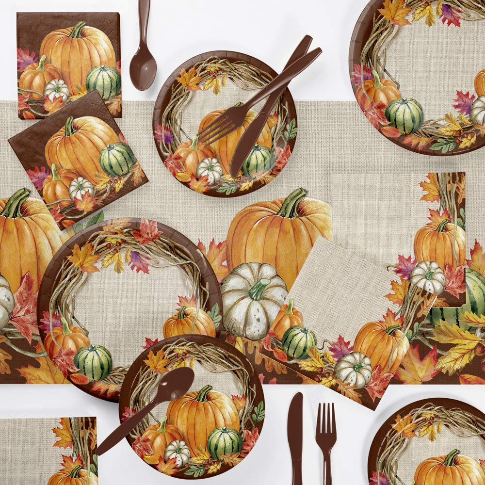 Harvest Wreath Thanksgiving Party Supplies Kit