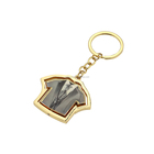 Different types of key rings epoxy personalised keyring suit t shirt keychain