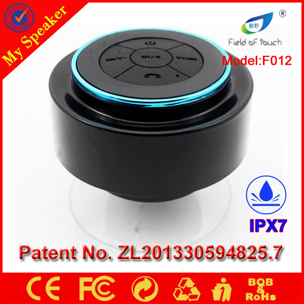 Business Gift hands free suction cup mini waterproof bluetooth speaker