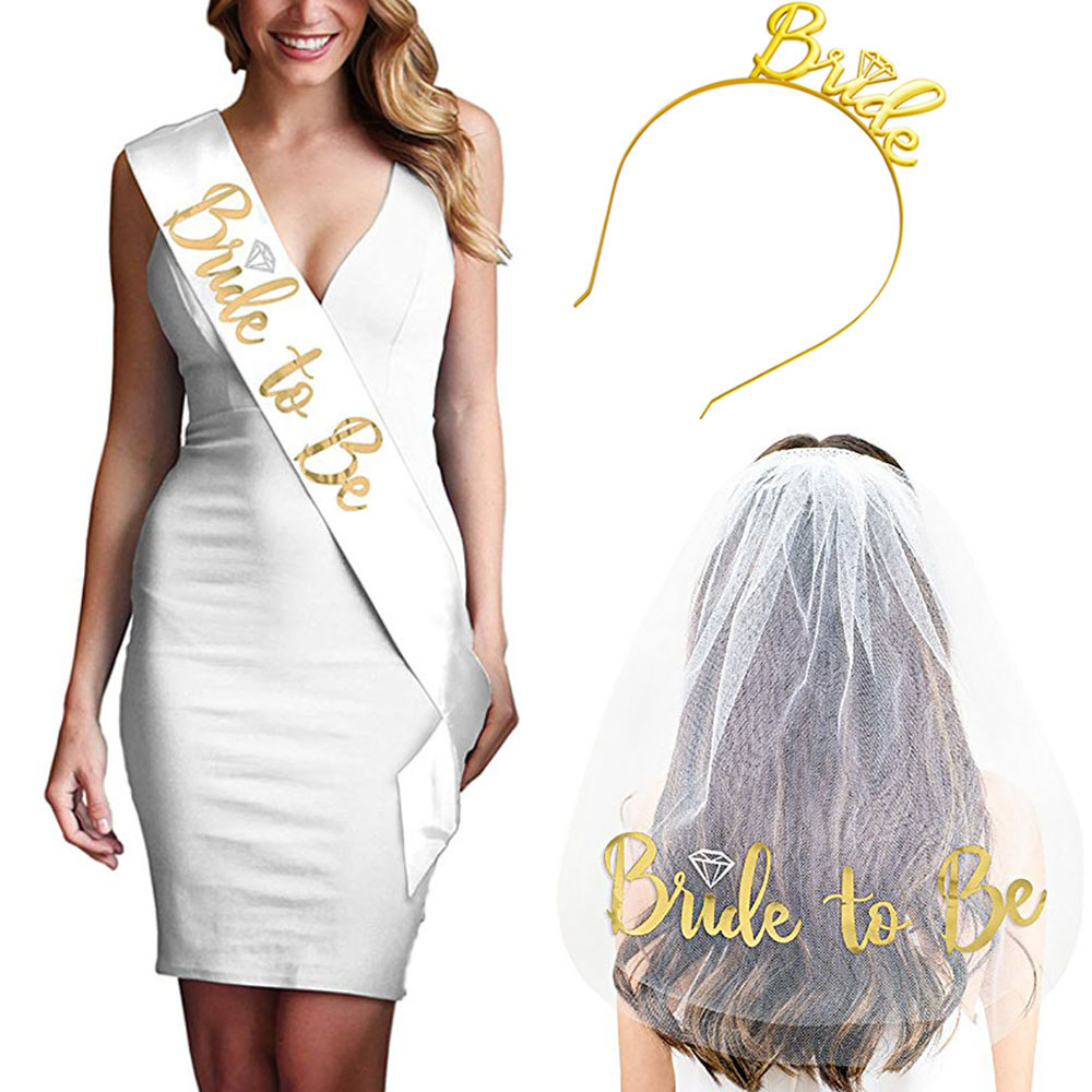 Party Favors Supplies wedding party sash and Decorations bride to be sash and veil