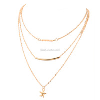 Fashion Gold Neckless Jewelry Wholesale HZS-0102