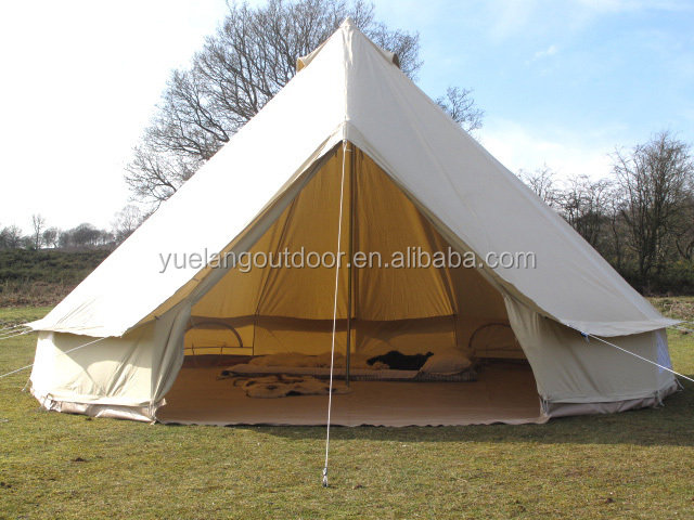 Cotton canvas teepee tents shelter canvas 5m bell tent