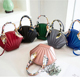 New pure color frosted shell jelly wrapped candy single shoulder bag lady's handbag