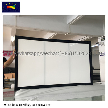 DIY home theter with XY SCREENS curved projector screen/fixed frame ...