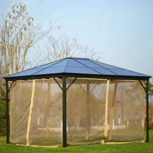 wooden prefabricated gazebo pavilion with eco-friendly wood plastic composite WPC Pavilion Post 150*150