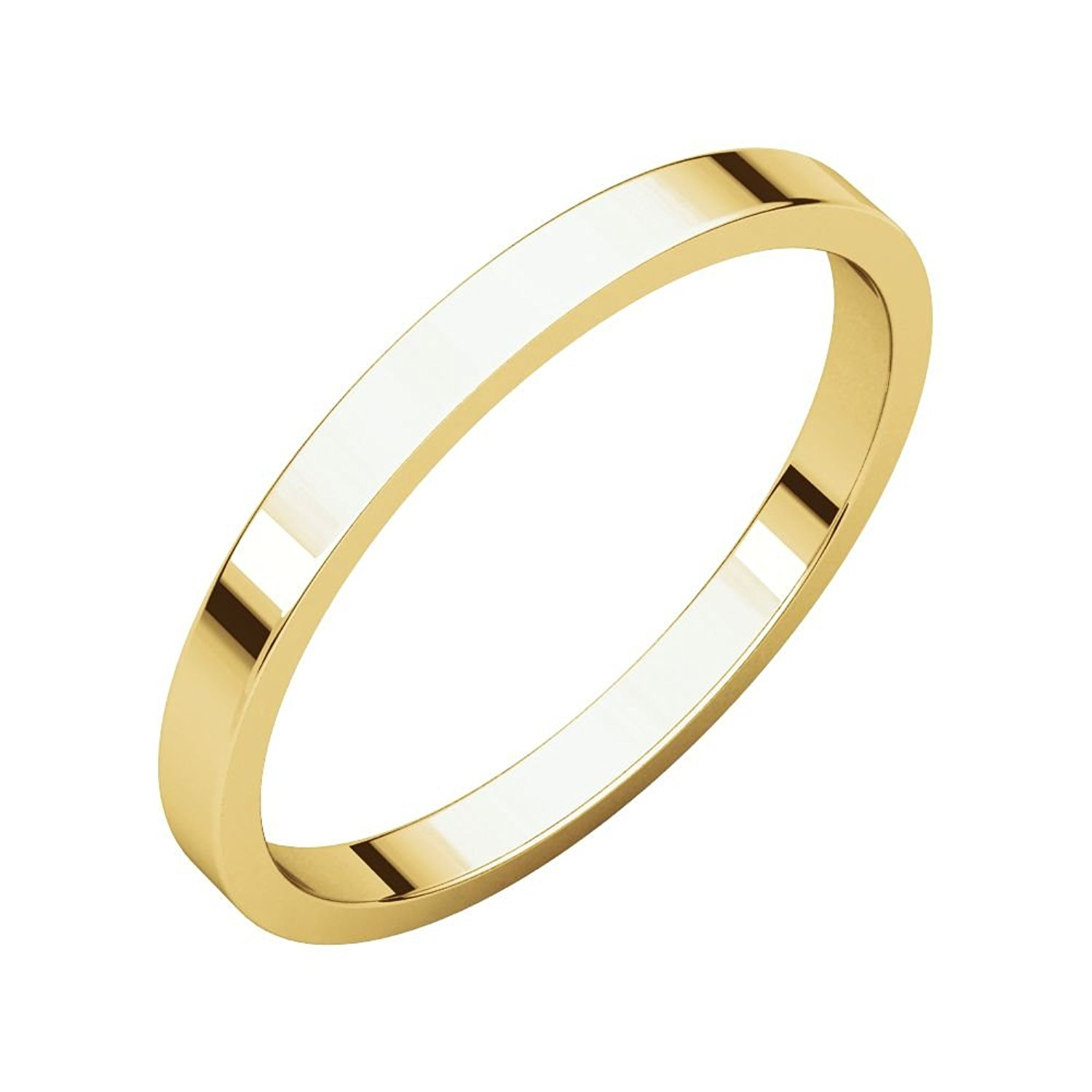 c526c5074 Get Quotations · 10k Yelllow Gold 2mm Flat Band, 10kt Yellow gold, Ring  Size 4