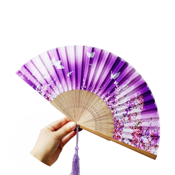 Lace Bamboo Handheld Folding Fans for Girls Women