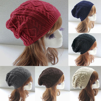 199180cb888 YOUME Women New Design Caps Twist Pattern Women Winter Hat Knitted Sweater  Fashion Beanie Hats For