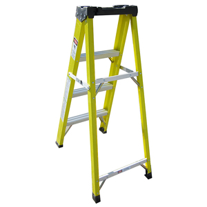 Surprising 3 Step Fiberglass Husky Ladder For Electrical Wire Repair Shop Garge Caraccident5 Cool Chair Designs And Ideas Caraccident5Info