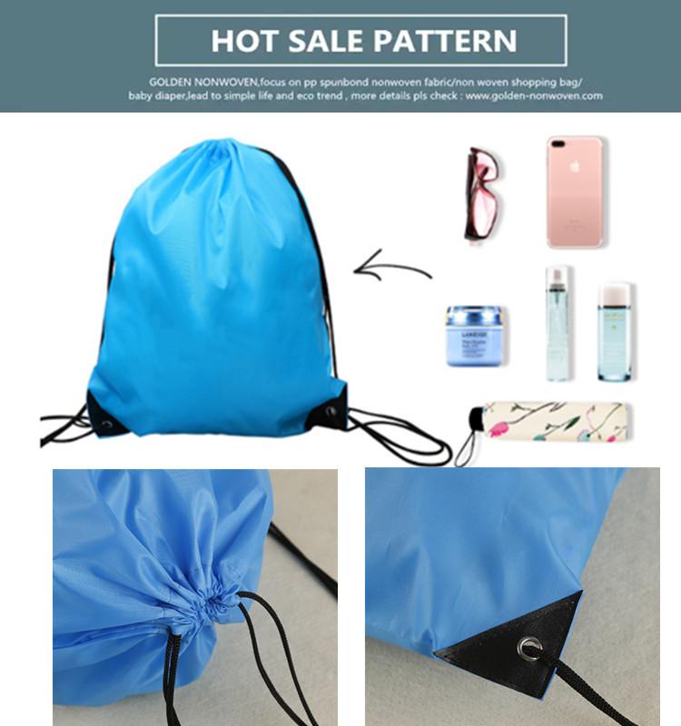 Wholesale Promotional Drawstring Canvas Bag Polyester Waterproof Drawstring Bag Custom Clear Drawstring Bag