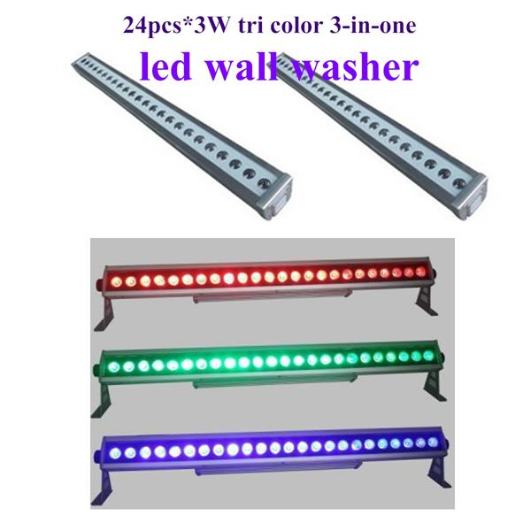Led Outdoor Wall Waher 24*3w Waterproof Ip65 Rgb Wall Washer