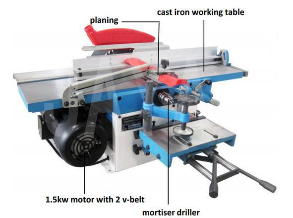 Zicar Lida Brand Mini Woodworking Machine All In One Woodworking