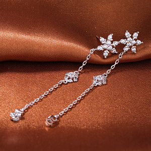 925 sun silver jewelry extra long post stud earrings with cz