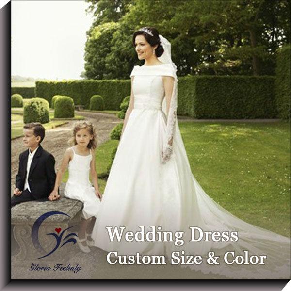 satén tul vestidos de novia para mujeres maduras-vestidos de boda