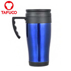 14oz 400ml Blue Thermal Mug Coffee Tea Travel Cup With Screw On Lid