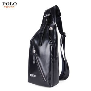 VICUNA POLO Wholesale Brand Vintage Men PU Leather Chest Pack Accepting  Sport Leisure Small Messenger Crossbody abd2d89af8fdd