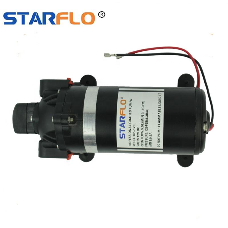 STARFLO DP-120 5.5LPM 12V dc electric piston plunger high pressure flushing water pump for car wash