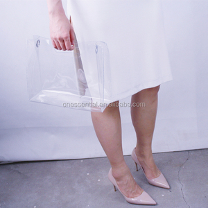Fashion thick clear transparent plastic clutch bag