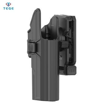 Universal Tactical Glock Holster Fits Glock 17/22/31 Gen 1-5 With Two-in-one Belt Clip Attached Polymer Adjusting Holster
