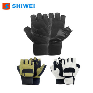 latest SHIWEI-886# Neoprene Half finger bike gloves in stock
