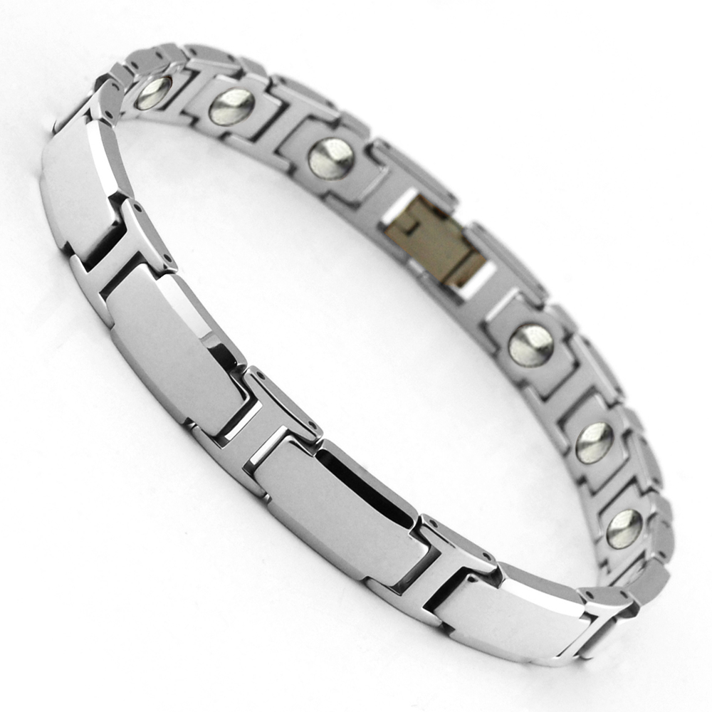 s collections co tungsten mens jewelry black bracelet link the bow inch polished men bracelets