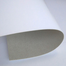 Regular size 700x1000mm one side white paper coated duplex board grey back