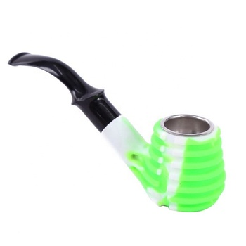 New Top Quality Silicone Smoke Pipe Small Tobacco With Glass Bowl