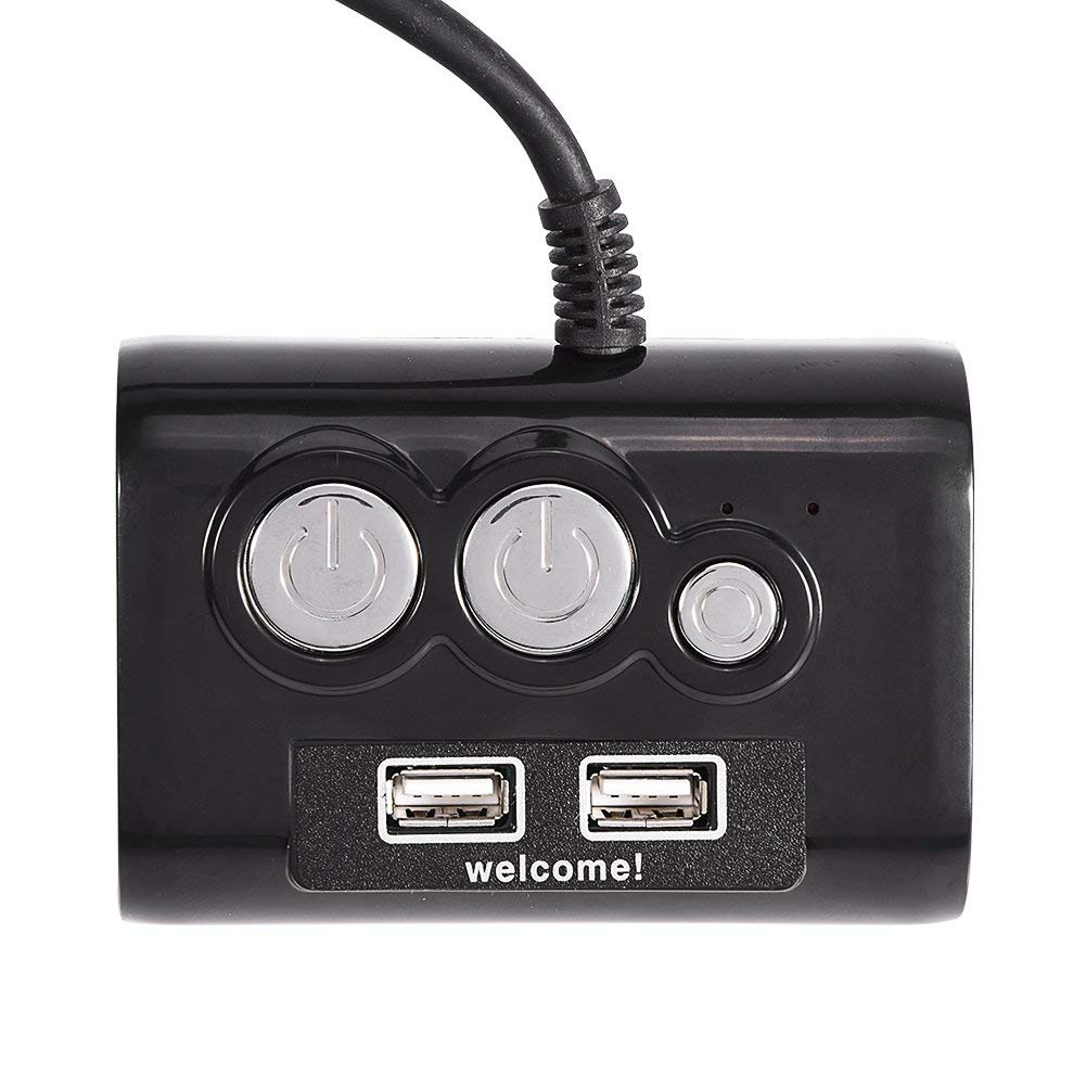 Richer-R Computer Power Switch, Multifunction Desktop PC Computer Power Switch With Dual USB Ports Reset Button 3.5mm Audio Jack