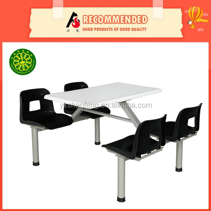 Made in China School Four Seat Dining Table And Chair Set