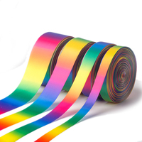 Factory customized garment accessories ribbon rainbow ribbon for garment