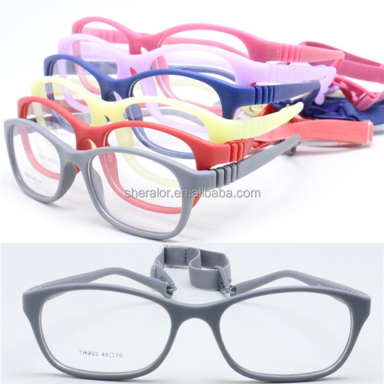 Alta calidad ambiental TR90 gafas graduadas marco único flexible ...