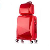 fashion high quality universal wheels PC customs lock travel trolley luggage bag