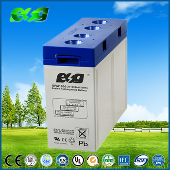 Maintenance free AGM solar battery 2V 1000ah backup battery bank