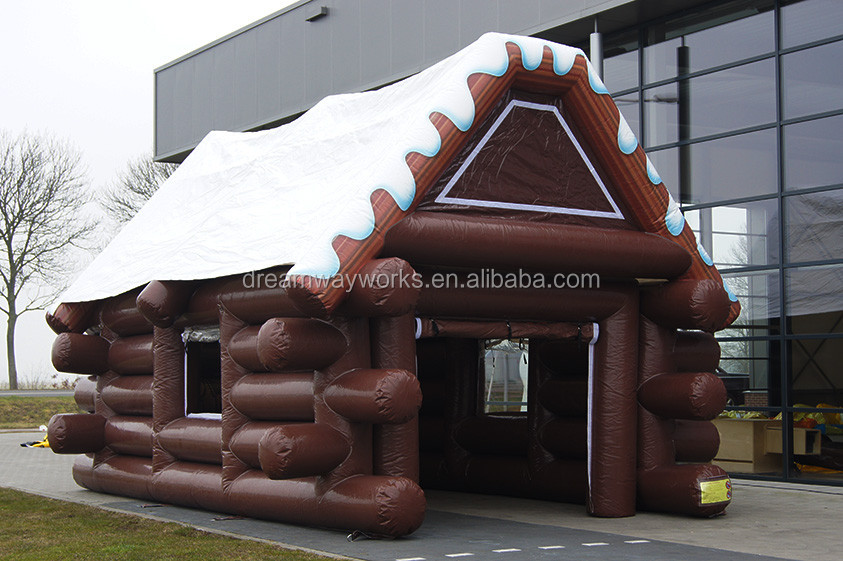 Best PVC inflatable house tent inflatable log cabin tent house tent for sale & Best PVC inflatable house tent inflatable log cabin tent house ...