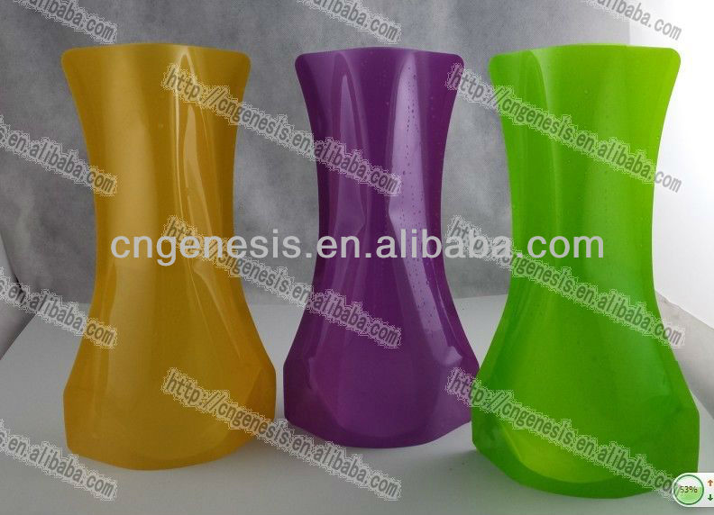 Self Standing Flower Plastic Vase Collapsible Flower Vase Buy