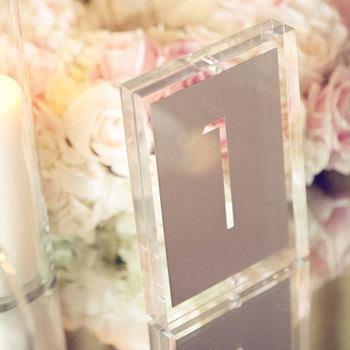 Clear Acrylic Table Numbers Part 57
